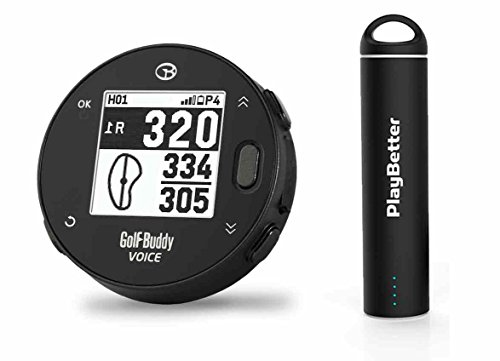 Golf Buddy Voice X with PlayBetter Portable Charger Bundle | Handheld Audio Golf GPS, 38,000 Worldwide Courses, Large Number Display, Bluetooth Updates Review
