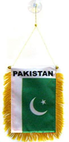 Pakistan Flag Car Window Hanging Pennant