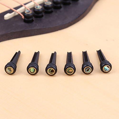 Terminaciones de puente para guitarra acústica Taylor Martin, diseño folk de ébano.