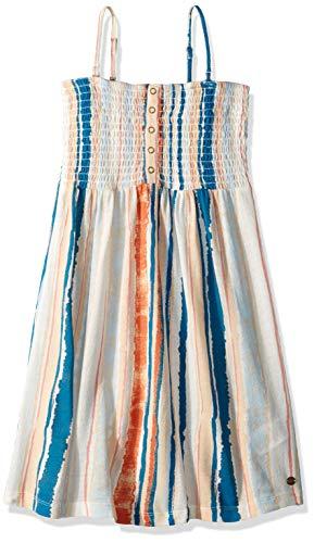 - Roxy Girls' Big Feathers in Flight Strappy Dress, Marshmallow River, 8/S