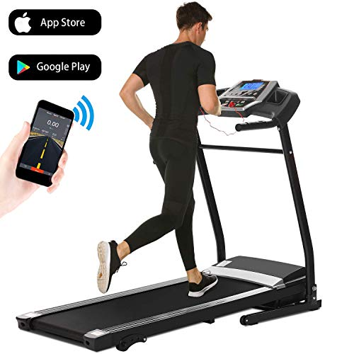Aceshin Treadmill Folding for Home, Running Machine, Fitness Motorized Treadmills, Smartphone APP...