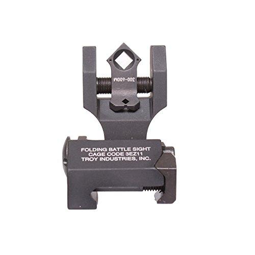 (Troy Industries Folding Di-Optic Aperture Tritium Battle Sight Rear (Black) )