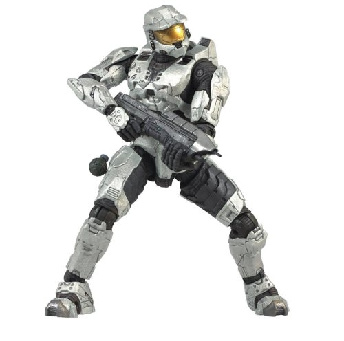 Halo 3 Series 1 - Spartan Soldier Mark VI Armor (White) - Spartan Armor Weapons