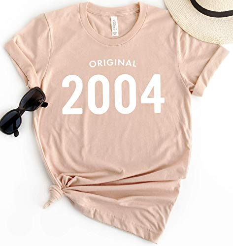 15th Birthday 2004 Original T-Shirt Short Sleeve Personalized Gift for Women and Men 00s Tee Shirt