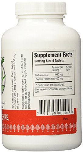 Green Supreme Barley Power Plus Cayenne 400 Tablets by Barley Power (Image #4)
