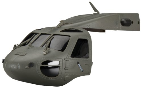 Rc Heli Canopies - Heli-Max Black Hawk Canopy, Black/Green