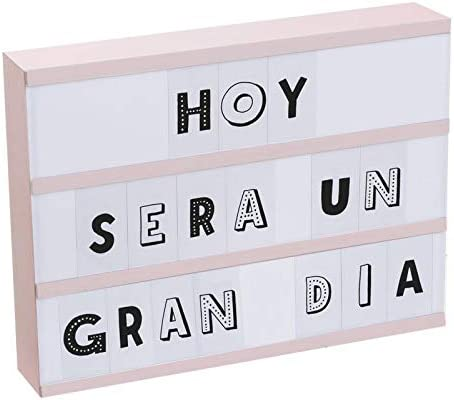 Home Gadgets Caja de Luz 85 Letras 32 cm: Amazon.es: Hogar