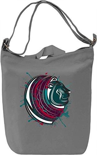 Splashing Lion Borsa Giornaliera Canvas Canvas Day Bag| 100% Premium Cotton Canvas| DTG Printing|