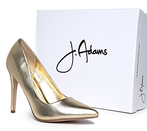 Heel Gold Pumps Classic Work Pumps Pointed Kiera Slip J Metallic Closed Adams Toe Pu On High xwvUcOt