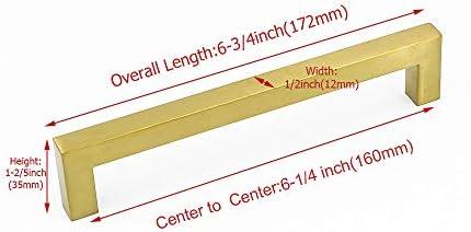 caj/ón Tirador Goldenwarm/® de acero inoxidable cepillado para armario cocina ancho del tubo 12/mm x 12/mm
