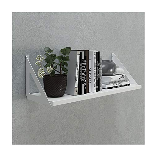 XFZK-Wall shelf Wall Shelf Floating Shelves Wall Mounted Ledge Shelf with Bracket for Pictures and Frames Modern Home Decorative Home Decoration (Color : Black Beige Orange Brown, Size : W-90cm)