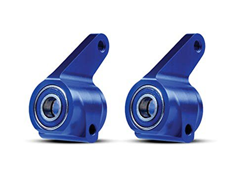 Traxxas 3636A Blue-Anodized 6061-T6 Aluminum Steering Blocks (pair) (Traxxas Aluminum Caster Blocks)