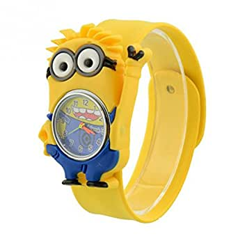 Kids watch despicable me minion slap watch girls boys educational time teacher for Despicable watches