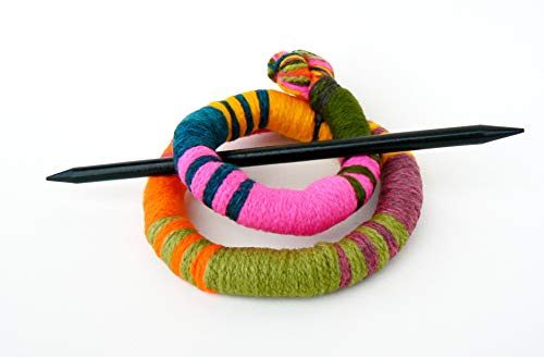 Scarfpin brooch Long hair barrette Flexible bun wrap fascinator Textile stick clip Statement geometric fork (Claw Brooch)