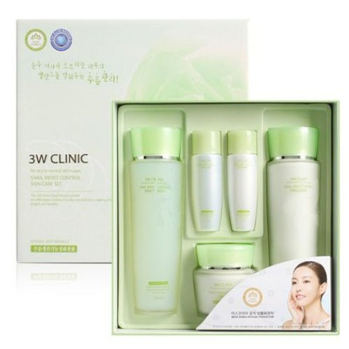 3W CLINIC Snail Moist Control Skin Care 3Set Anti-Wrinkle Moisturing Nutrition