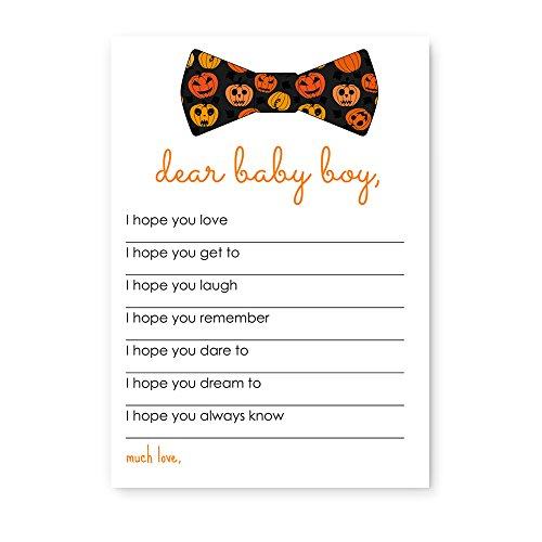 Halloween Wishes for Baby Boy Shower Game (20 Pack)