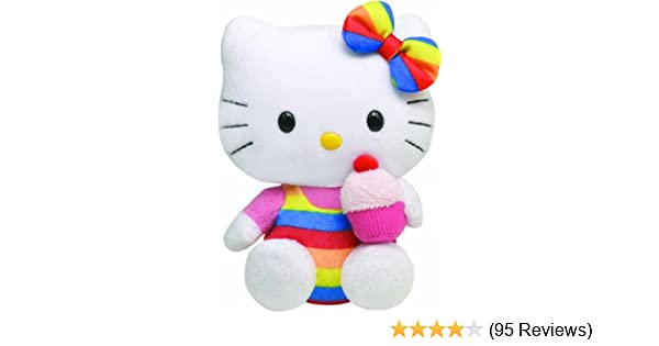 Amazon.com  Ty Beanie Baby Hello Kitty - Cupcake  Toys   Games e3332768f94b