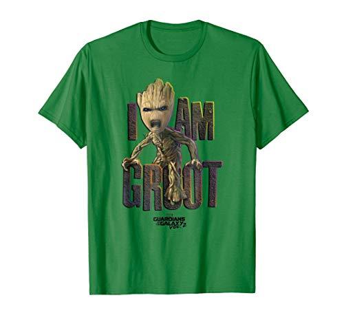 505cb9e65 Mens Marvel Guardians Vol.2 I AM GROOT Cute Angry Graphic T-Shirt Medium
