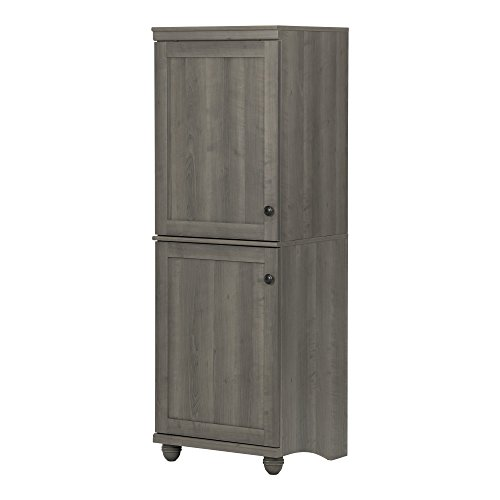 South Shore Hopedale Narrow 2-Door Storage Cabinet, Gray Map