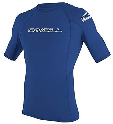 O'Neill UV Sun Protection Men's Basic Skins Short Sleeve Crew Rashguard