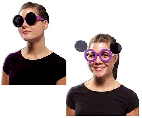 Fish Finger Fancy Dress Costume (Retro 60's Mod Purple Eye Glasses Sunglasses Halloween Costume Accessory)