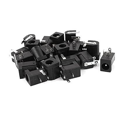 eDealMax Toma de 22PCS Fuente de alimentación DC Jack Mujer Outlet conector del cargador DE 5