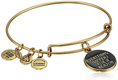 "Alex and Ani ""Words Are Powerful"" Expandable Wire Bangle Bracelet, 7.75"""