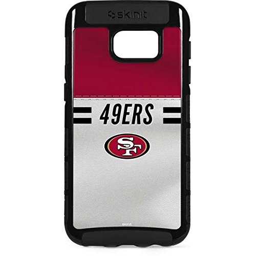 (Skinit NFL San Francisco 49ers Galaxy S7 Edge Cargo Case - San Francisco 49ers White Striped Design - Durable Double Layer Phone Cover)