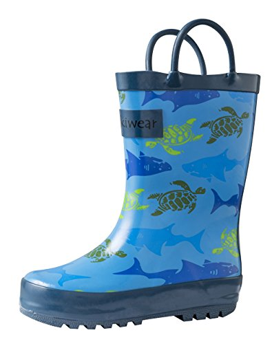 [Children's Rubber Rain Boots, Sharks & Turtles 10] (Next Kids Boots)