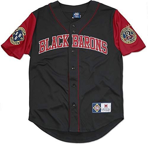 201ddfcdc46 Cultural Exchange Big Boy Birmingham Black Barons Legends S4 Mens Baseball  Jersey  Black - XL