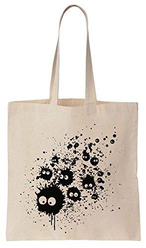 Black Ink Soot Fairies Design Sacchetto di cotone tela di canapa