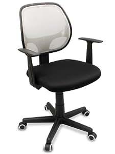"The ""Distrikt"" Computer Task Mesh Ergonomic Office Chair with Rubber Anti-Scuff Wheels (White)"