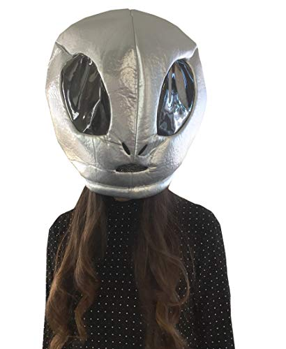 Clever Cute Halloween Costumes (CLEVER IDIOTS INC Animal Head Mask - Plush Costume for Halloween Parties & Cosplay (Alien))