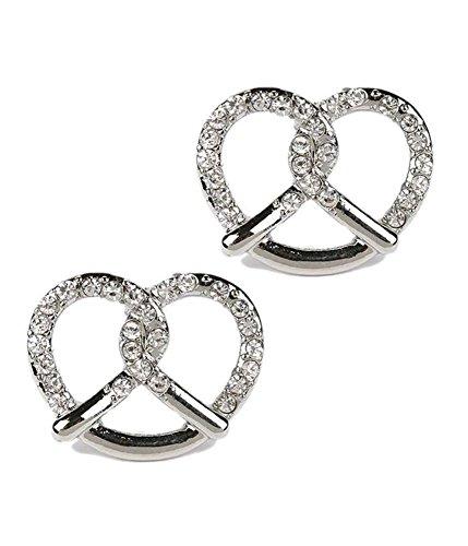 Crystal pretzel stud earring (RDCR)