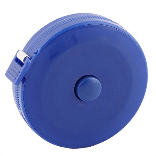 uxcell メジャー テープメジャー ストリングメジャー オートロック 自動巻き取り式 測定範囲150cm プラスチック製 ブルーの商品画像