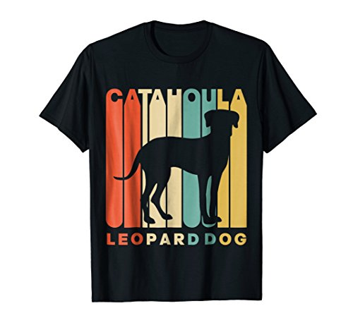 Vintage Style Catahoula Leopard Dog Silhouette T-Shirt
