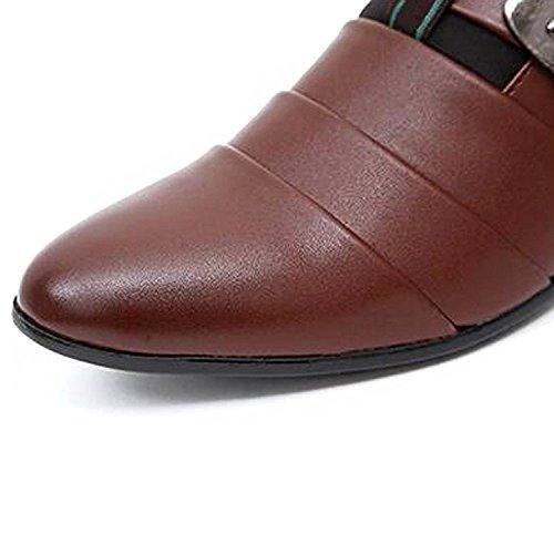 Vestir Británico Boda de Mocasines Planos Slip Minetom Estilo Hombres de Casual On de Comodidad Zapatos Oxfords Marrón Negocios wq4xH6p