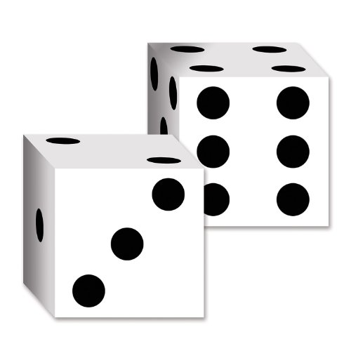 Beistle 54132 2-Pack Dice Card Boxes, 6-1/2-Inch by 6-1/2-Inch
