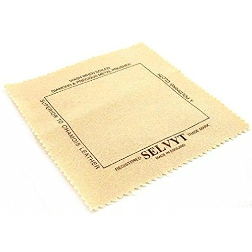 Selvyt Polishing Cloth - For Diamonds, Gemstones, Precious Metals, Crystal, and Silverware Without ()