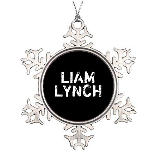 VinMea Xmas Snowflake Ornaments Personalised Christmas Tree Decoration Liam Lynch Pin Christmas Tree Already Decorated