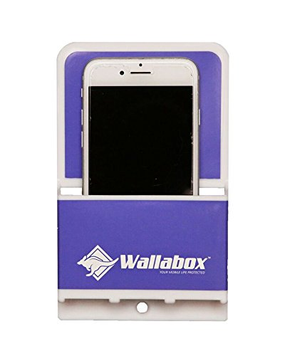 Wallabox (Vivid Violet) - Universal Cell Phone Holders, Wall Mount - Fits All iPhone & Android Phones. Great for Bedroom, Bathroom, Office, Car, Charging Station. 3M Removable Non-Damaging ()