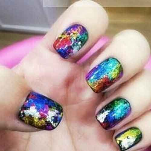 Nail Art Nail Sticker Decal Foil Beauty-Random Color 5Pcs by Hob Shop (Image #2)