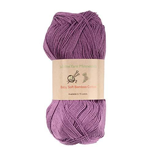 (Baby Soft Bamboo Cotton Yarn - JubileeYarn - Deep Purple - 4)