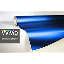 Blue Satin Chrome Conformable Stretch Vinyl Wrap Roll With VViViD XPO Air Release Technology - 3ft x 5ft
