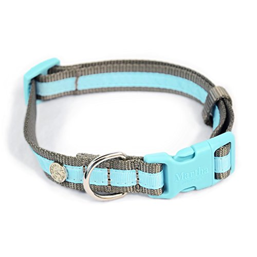 MARTHA STEWART Classic Webbing with Overlay Collar for Dogs