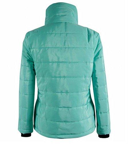 Outwear Collo Alto Delle Solido Irregolare Lago Sottile Sexy Donne Eku 2xl Breve Blu xaqnpUXfBw