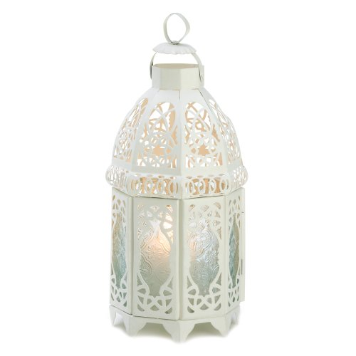 10 White Lattice Lantern Wedding Centerpieces ()