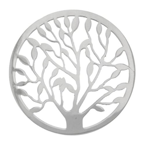 My imenso Arbre de Vie Tree Of Life Cover insignie Argent 33  Mm 33– 0479 33-0479