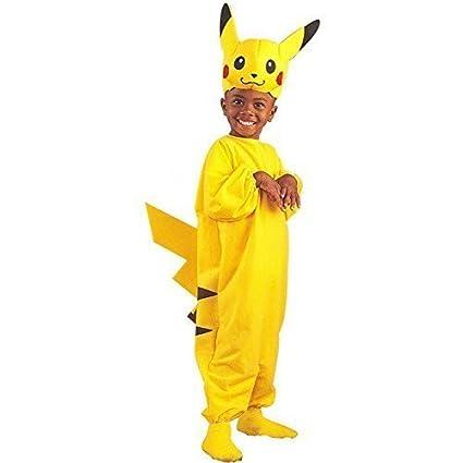Disfraz infantil de disfraces de Pikachu Pokemon, amarillo ...