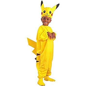 Amazon.com: Child's Pikachu Pokemon Costume (Size: Large 7-10 ...
